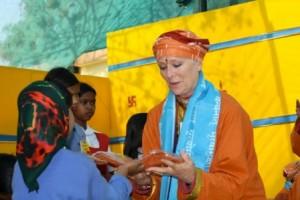 Sw Kamala at Rikhiapeeth ashram 2010